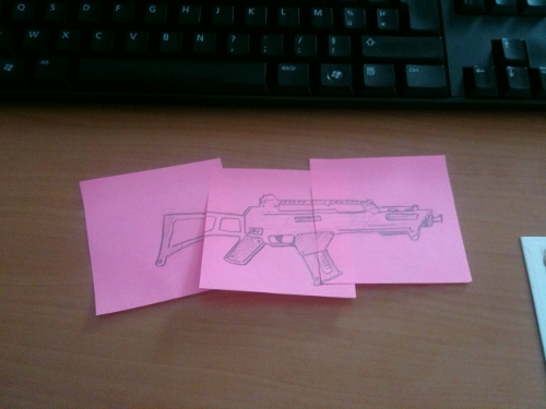 guerre des post-it