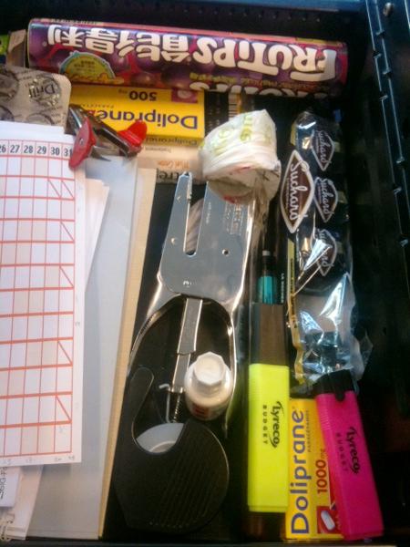 Dans mon tiroir au bureau