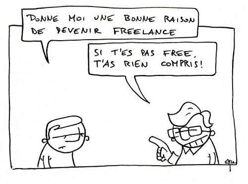la vie d'un freelance en dessin
