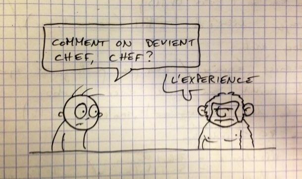 comment on devient chef