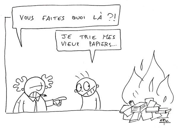 trier ses papiers