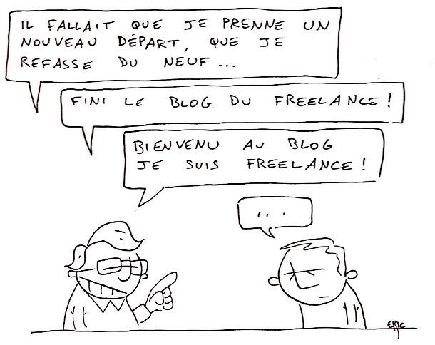 je suis freelance