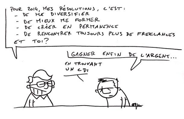 bonnes resolutions 2014 freelance