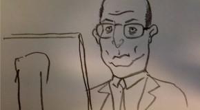 Mon collègue d'en face – petits dessins en passant