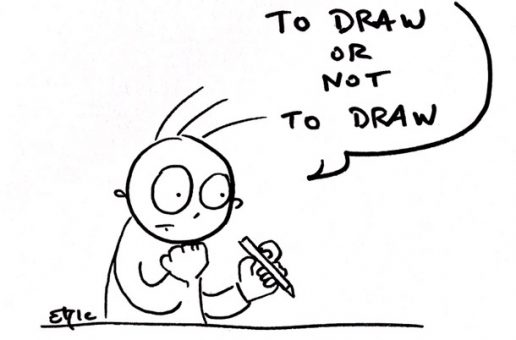 Calendrier de l'avent au boulot, jour 7 – to draw or not to draw